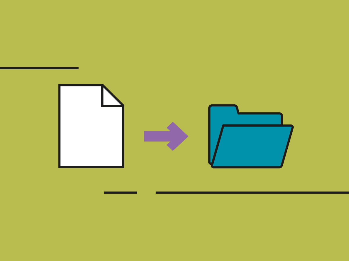 Scannen_Icon eines Papierdokumentes in einen digitalen Ordner